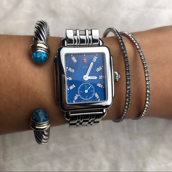 da5dc2f6f8a9 RARE Michele Deco Diamond Mid Blue stainless band.  M_5bd392ffaa5719c4a6a7bc74. Other Accessories you may like. Diamond watch